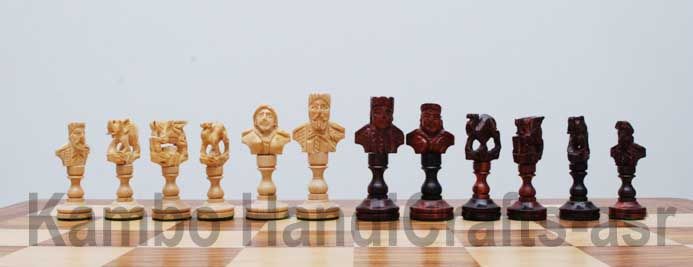 Wooden Theme Chess Pieces